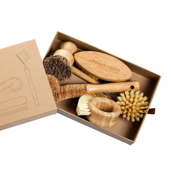 Seed and Sprout Eco Brush Set