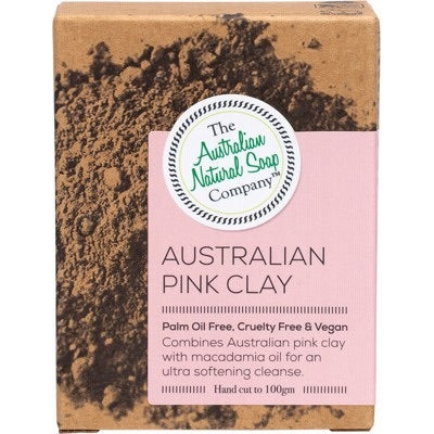 ANSC Pink Clay Cleansing Bar 100g