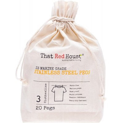 That Red House Stainless Steel Pegs - 316 Marine Grade zero waste