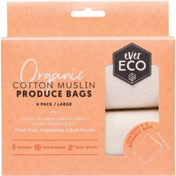 Ever Eco Organic Cotton Reusable Produce Bags