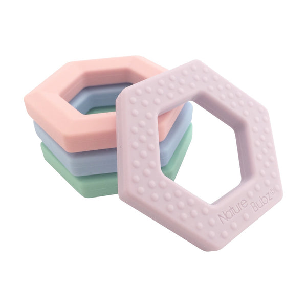 Nature Bubz Hexagon Teether