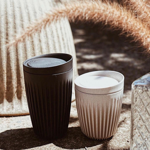 HuskeeCup Reusable Coffee Cup Charcoal