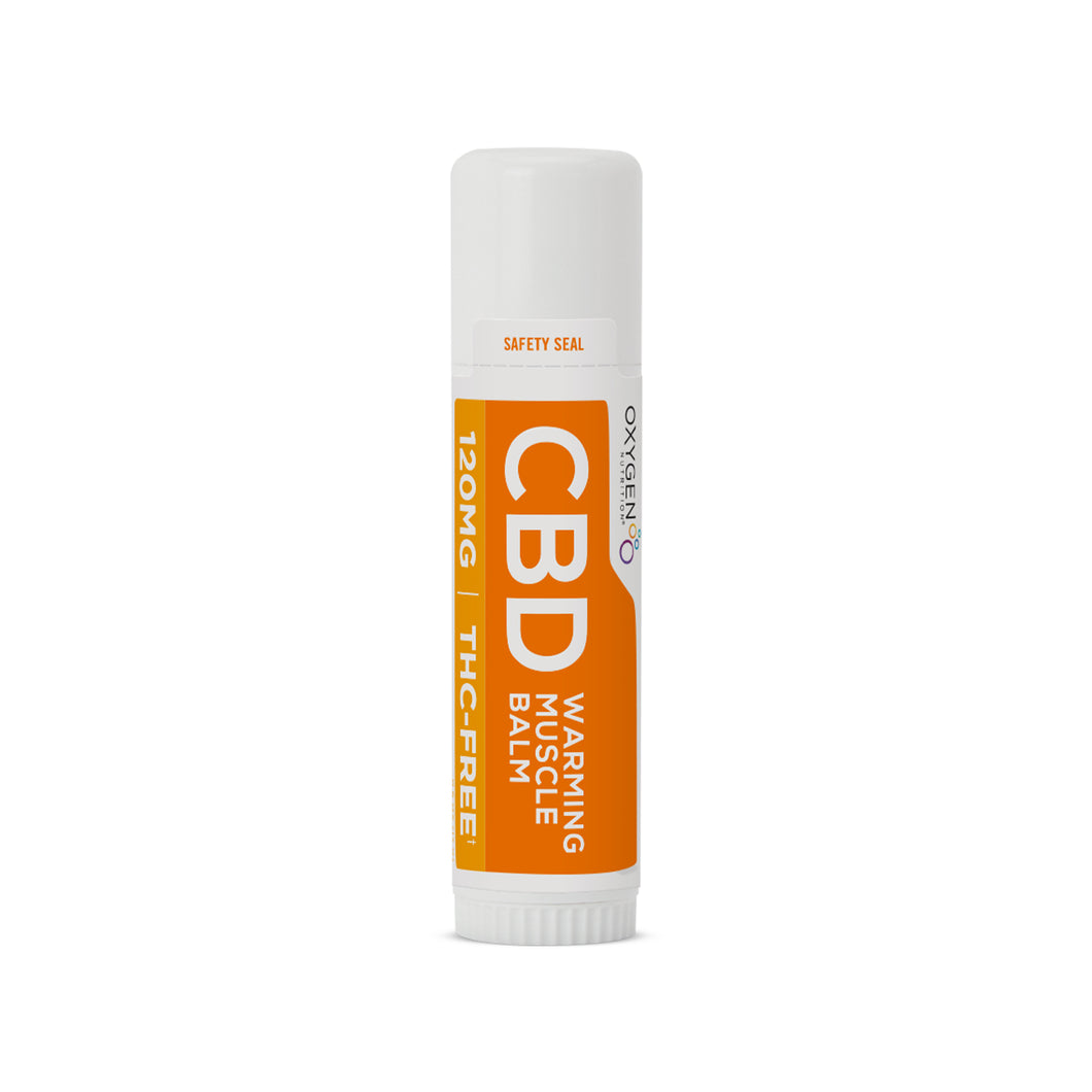 Certified THC-FREE 120 MG CBD Infused Warming Muscle Balm
