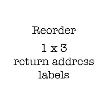 1 x 3 Return Address Labels Reorder
