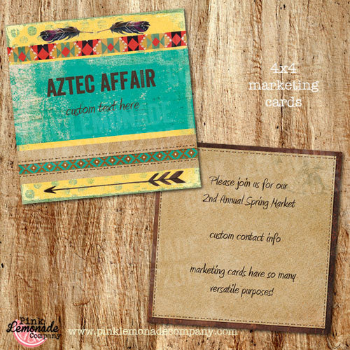 Aztec Affair Marketing Cards