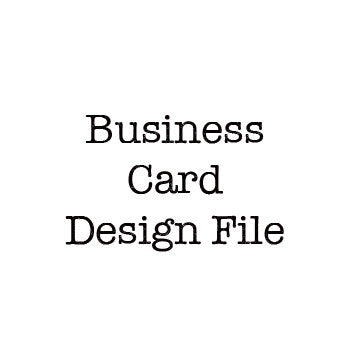 Business Card Design File