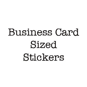 Business Card Sized Stickers