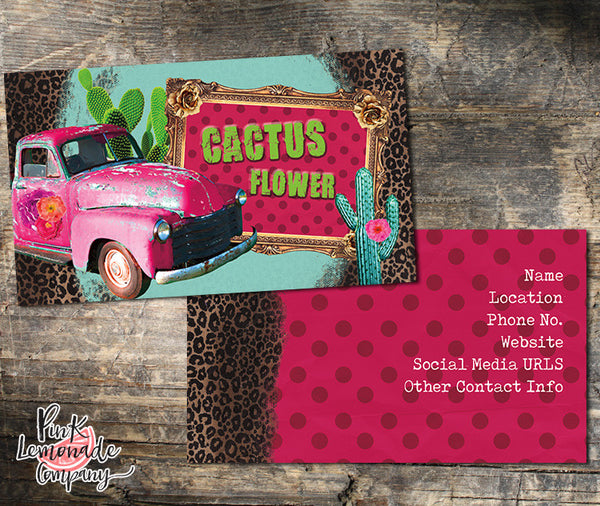 Cactus Flower Business Card