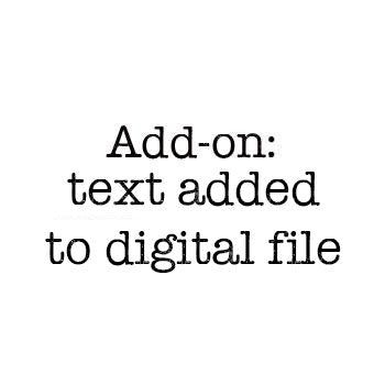 Text added to Digital File