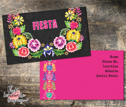 Fiesta Business Card Design