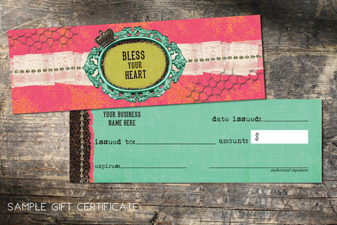 Pre-made Design Gift Certificates
