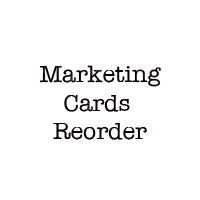 Marketing Cards Reorder