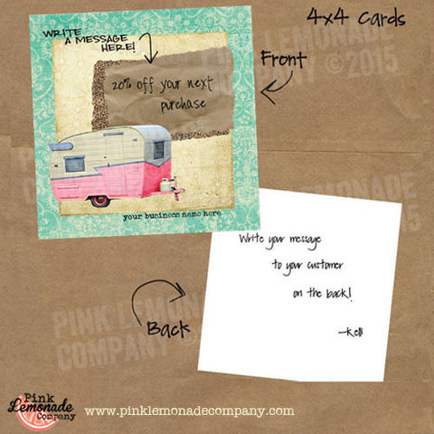 Happy Camper Marketing Cards