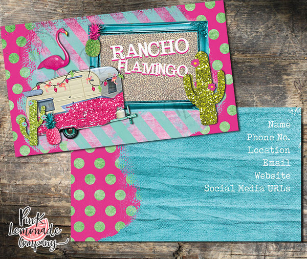 Rancho Flamingo Business Card