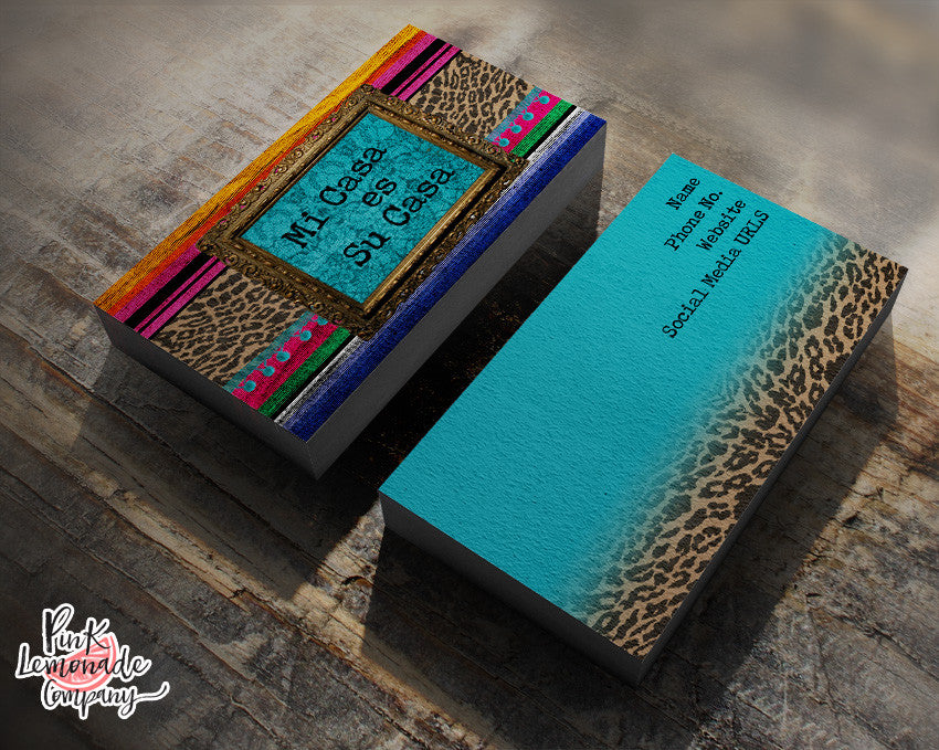 Mi Casa Serape business card