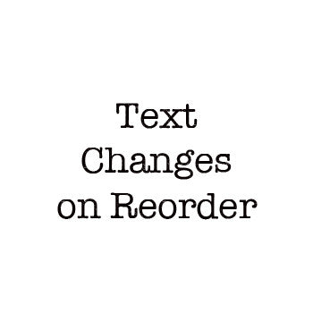 Add-on: Text Changes on Reorder