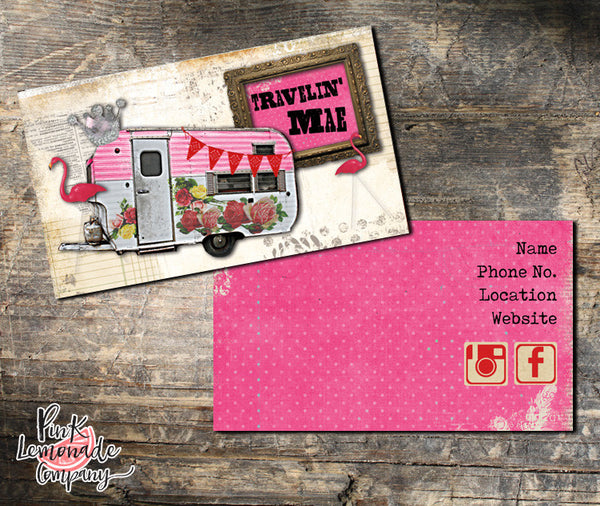Travelin' Mae Business Cards