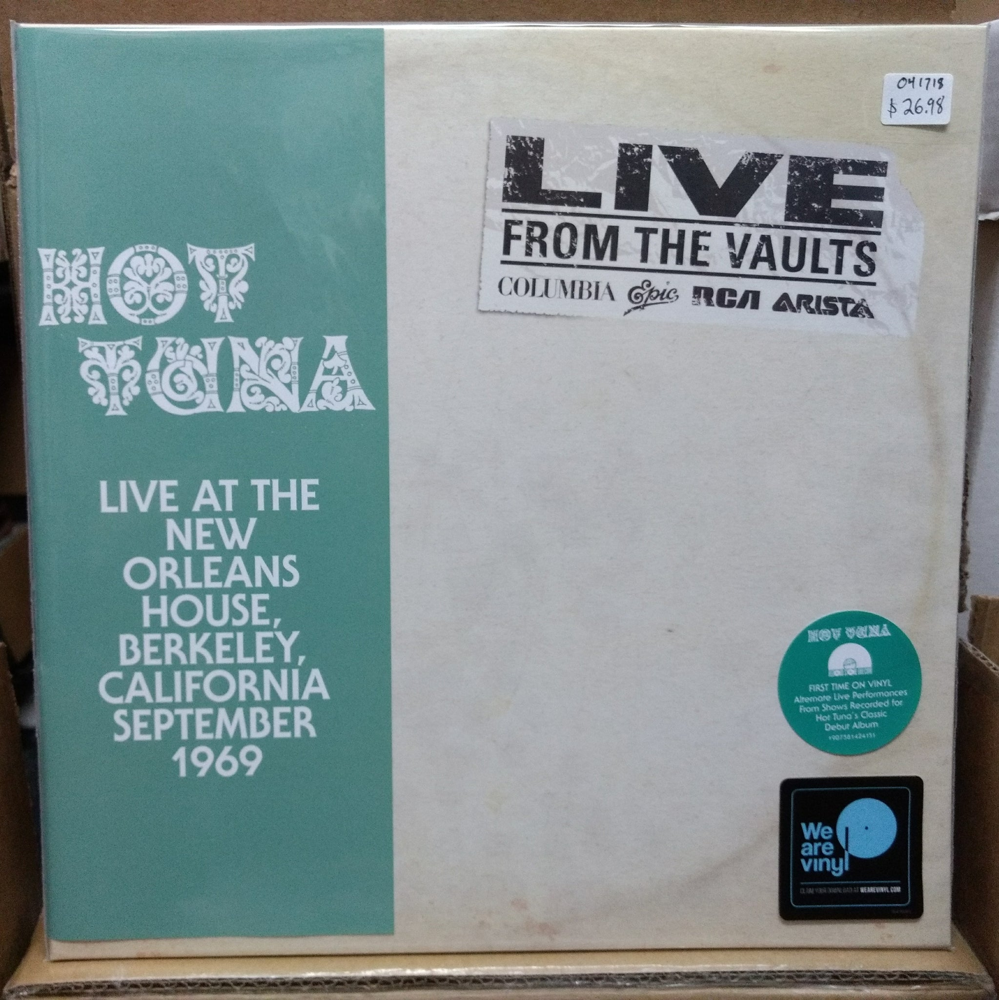 Hot Tuna - Live at the New Orleans House, Berkeley, CA September 1969 2LP