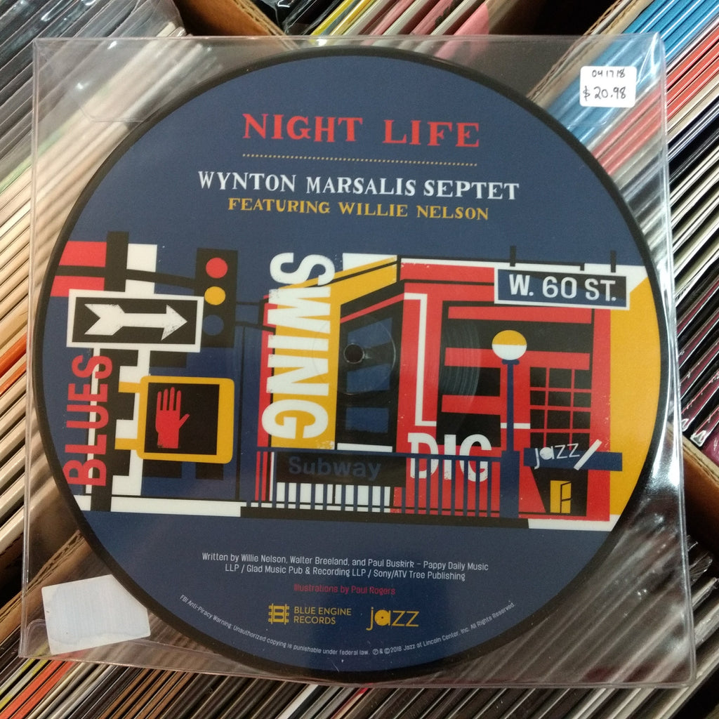 Wynton Marsalis Septet ft. Willie Nelson - Night Life 10""