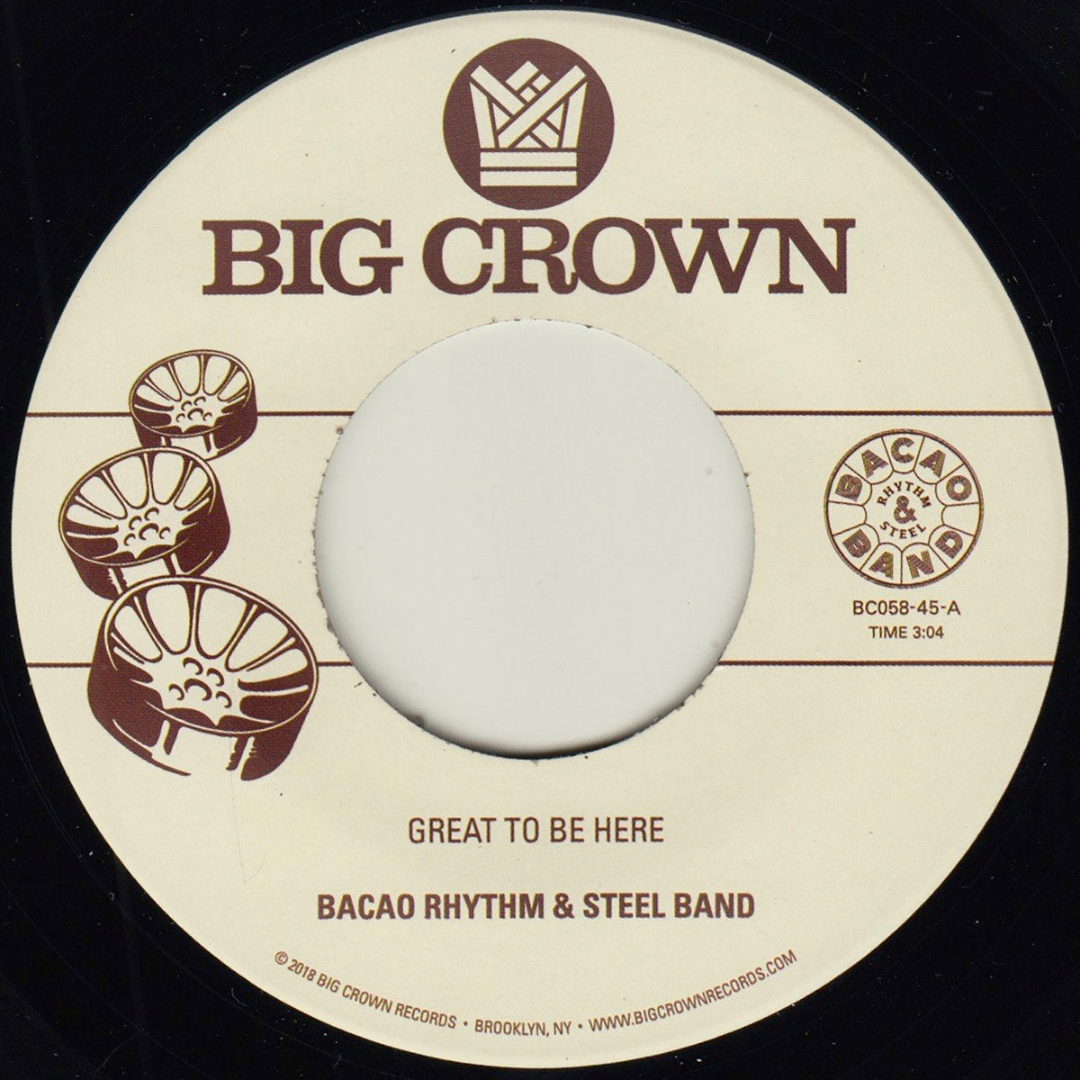 Bacao Rhythm & Steel Band - Great To Be Here 7""