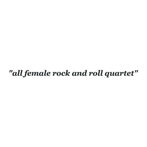 The She's - All Female Rock and Roll Quartet LP