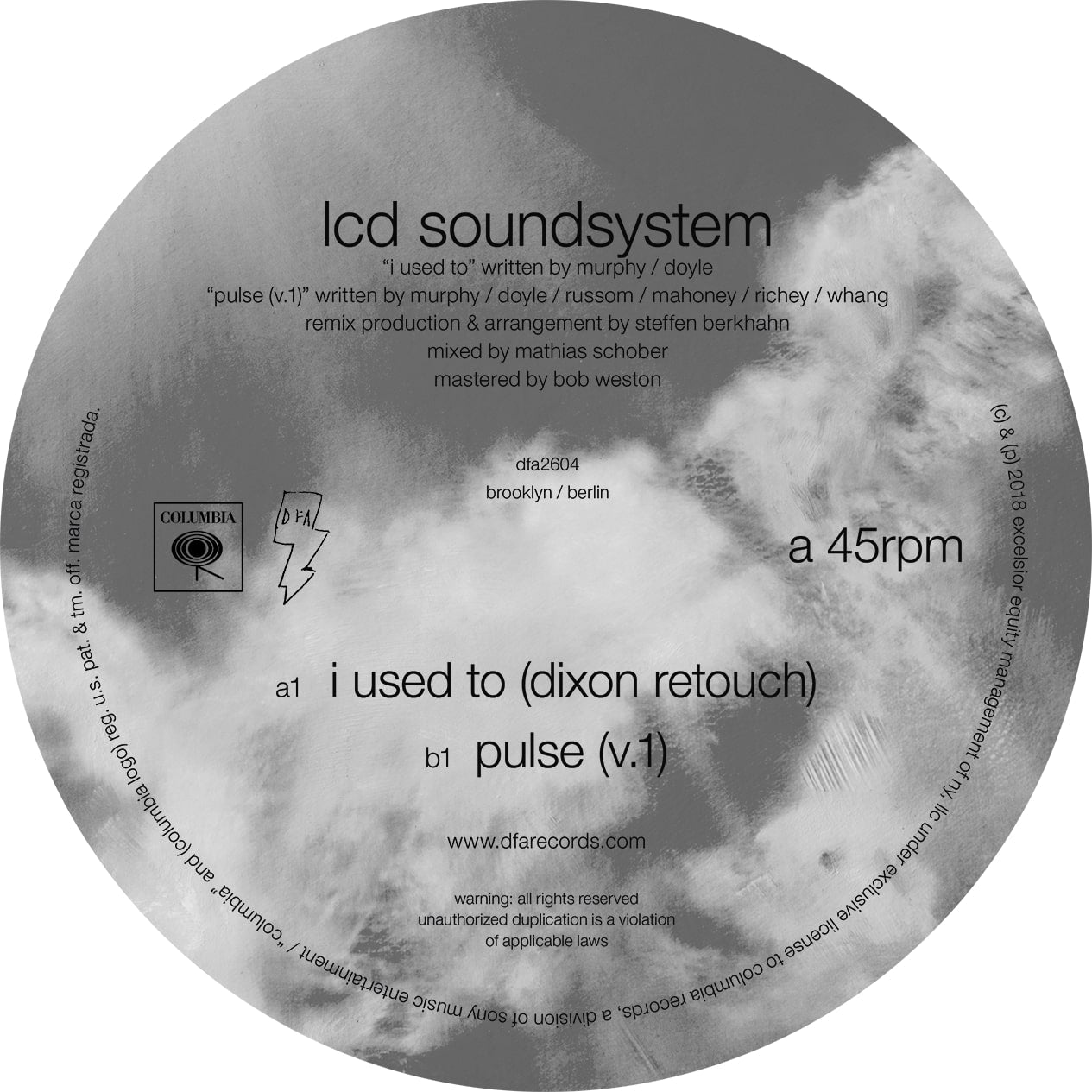 LCD Soundsystem - I Used To (Dixon Rework b/w Pulse v.1) 12""