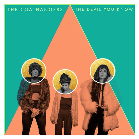 The Coathangers - The Devil You Know LP (Kelly Green White Splatter Vinyl Edition)