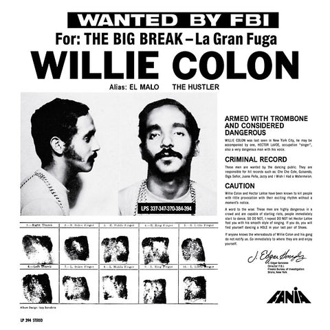 Willie Colon - Wanted by the FBI: The Big Break / La Gran Fuga LP