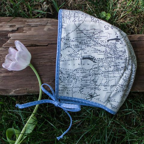Canvas Travel Map Bonnet