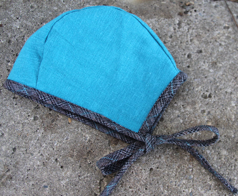 Hello Turquoise Bonnet (XS, Sm, Med, Lg, XL)