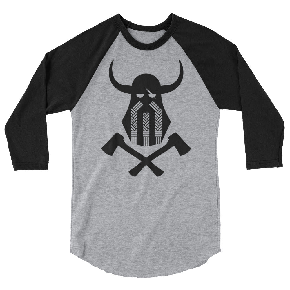 Viking Emblem 3/4 Sleeve Baseball Tee
