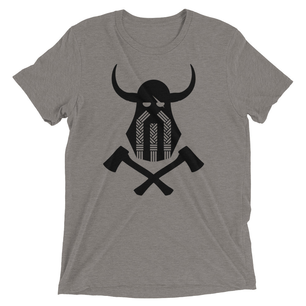 Viking Emblem Tri-Blend T-Shirt - Grey