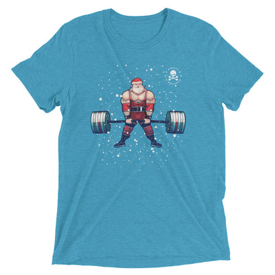 Savage Santa Deadlifts Tri-Blend T-Shirt