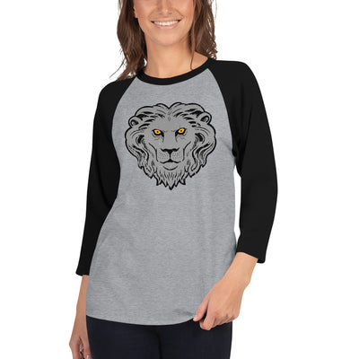 Lion Sigil 3/4 Sleeve Baseball Tee