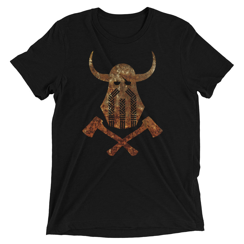 Viking Emblem Rust Tri-Blend T-Shirt