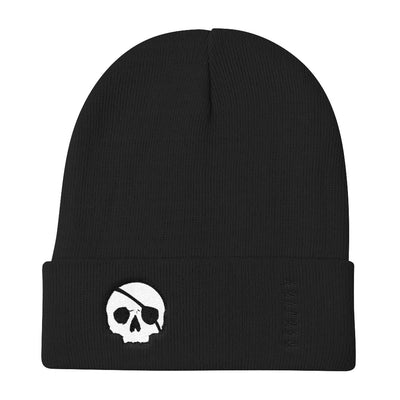 Skull Badge Knit Beanie