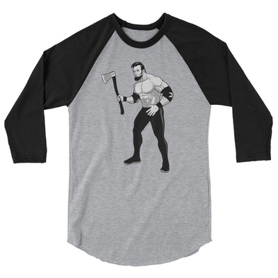 Savage Abe Fight 3/4 Baseball Tee