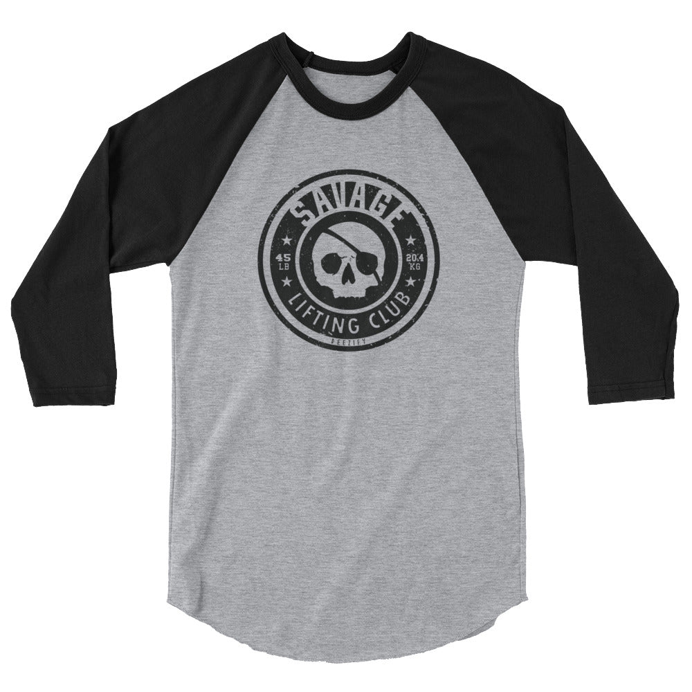 Savage Lifting Club 3/4 Sleeve Baseball Tee
