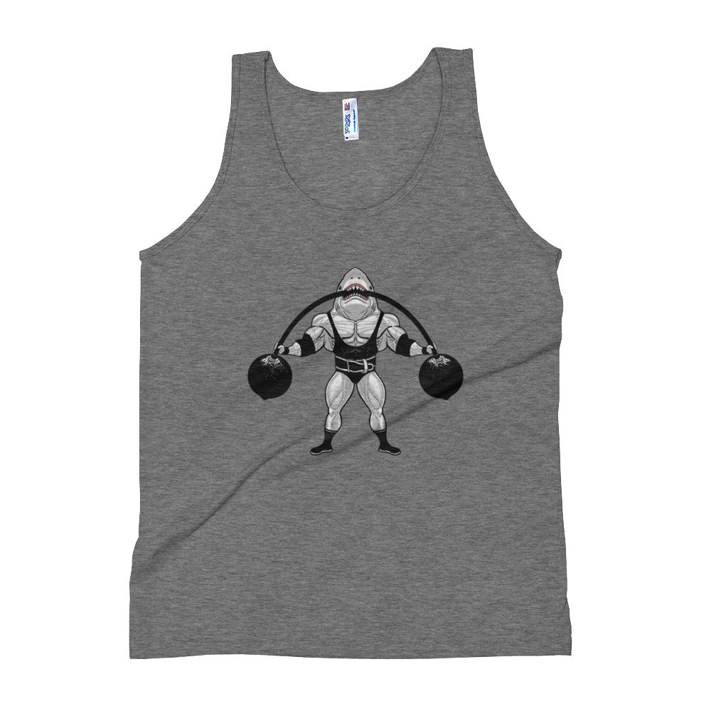 Strongman Shark Tri-blend Tank Top