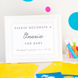 'Le Petit' Onesie Decorating Station