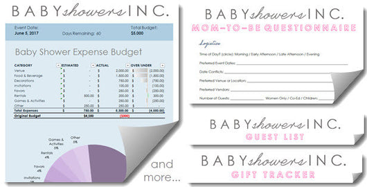 Baby Shower Planning Power Pack by Baby Showers Inc.