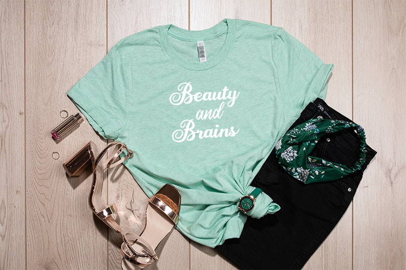 BEAUTY AND BRAINS TEE