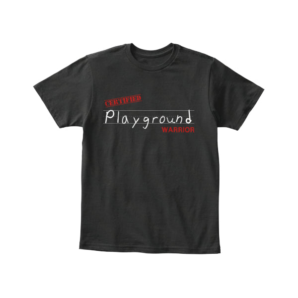 Playground Warrior Kids Tee - Black/White