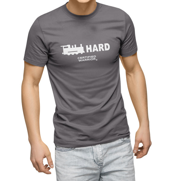 TRAIN HARD TEE - GREY