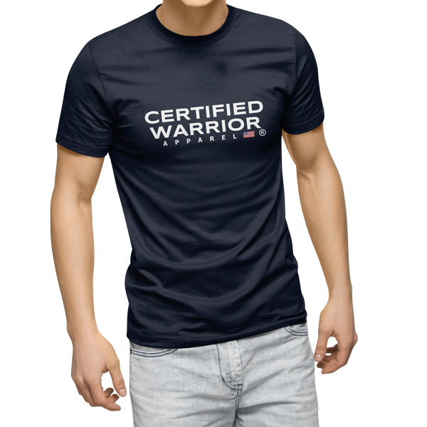 WARRIOR APPAREL TEE - NAVY