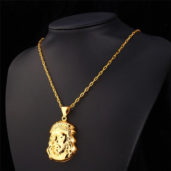 18K Gold Plating Jesus Necklace