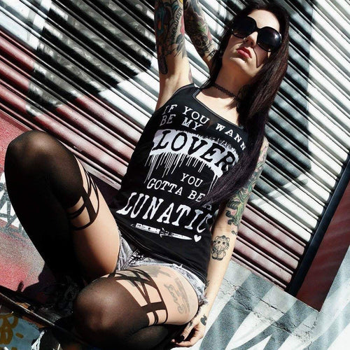 Gotta Be a Lunatic Premier Tank - Women's--LOVERS ARE LUNATICS UK