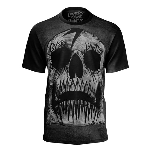 Gravesend Skull Premier Tee - Men's-XS-LOVERS ARE LUNATICS UK