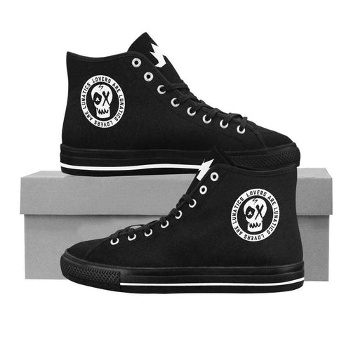 Mean Streets High Top Canvas Shoes - Men's--LOVERS ARE LUNATICS UK