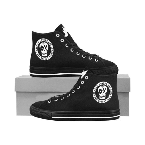 Mean Streets High Top Canvas Shoes - Women's--LOVERS ARE LUNATICS UK